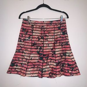 Banana Republic hot pink floral mini skirt